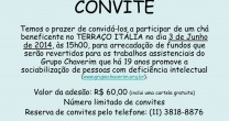 CHÁ-BINGO EM PROL DO CHAVERIM