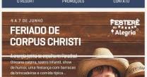 FESTA BOA NO PARADISE NO FERIADO DE CORPUS CHRISTI
