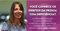 MARA GABRILLI E OS DIREITOS DA PESSOA COM DEFICIÊNCIA