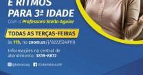 AULA DE DANÇA E RITMOS PARA 3ª IDADE